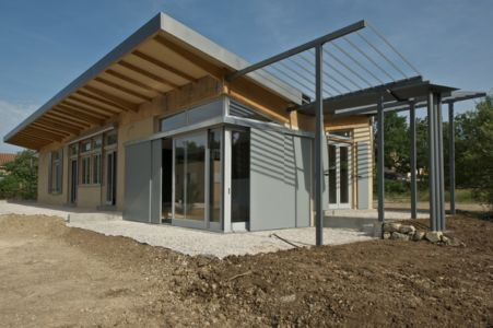 Maison FLFX bioclimatique bois terre paille et chanvre - Sophie Lossky - Fons sur Lussan (30) via Objectif Gard