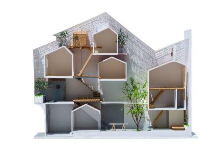 plan coupe - Maison Saigon par a21studio - Vietnam