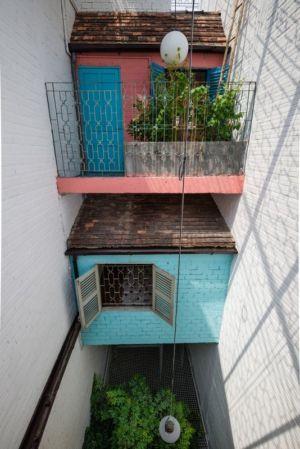 vue plongeante cour - Maison Saigon par a21studio - Vietnam
