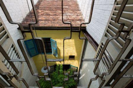 vue arienne cour - Maison Saigon par a21studio - Vietnam