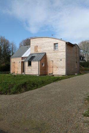 vue d'ensemble - Maison bois organique par Patrice Bideau, Atypique - Morbihan, France