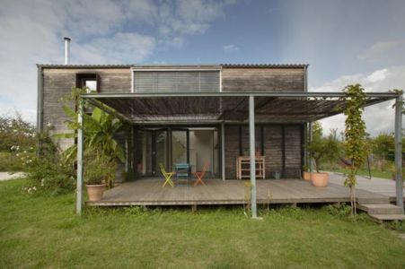 Maison bois passive par Pra Architectes - Tabanac (33) via Construction21.eu