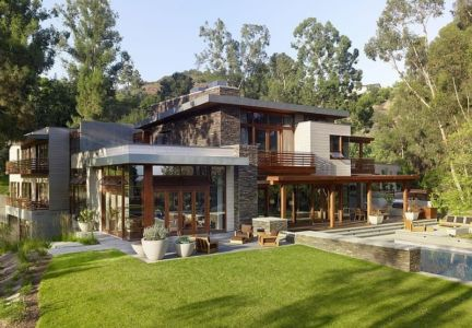 Mandeville canyon residence par Rockefeller partners architects - Mandeville Canyon, Los Angeles - Photo Eric Staudenmaier