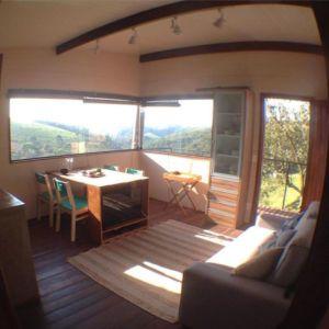 Mini salon & salle de séjour - Small-House-Bliss par Cabana-Arquitetos - Brésil