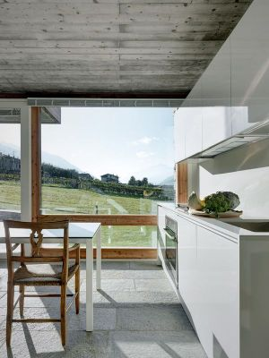 Mini Salle Séjour & Cuisine - SV-House Par Rocco Borromini - Albosaggia, Italie