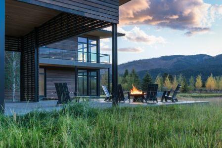 Mobilier Jardin - Maison Contemporaine Bois par Carney Logan Burke Architects - Wilson, Usa