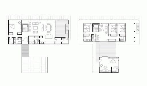 Plan Détaillé Site - House Cs par Alvaro Arancibia - Cachagua, Chili