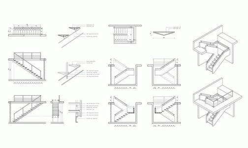 Plan Escalier - House Cs par Alvaro Arancibia - Cachagua, Chili