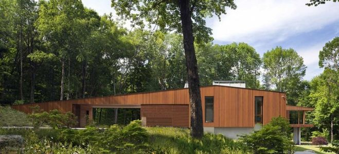 Fraçade entrée - bridge-house par Joeb Moore & Partners - Kent Connecticut, USA