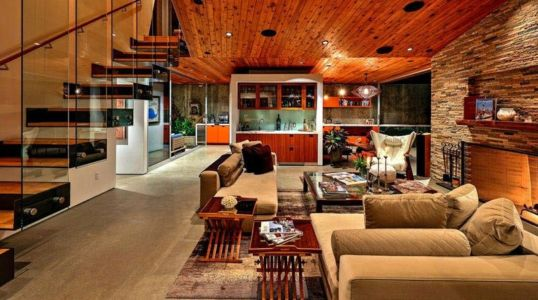 Pièce De Vie - Wood-Clad-Home Par Space International - Los Angeles, Etats-Unis