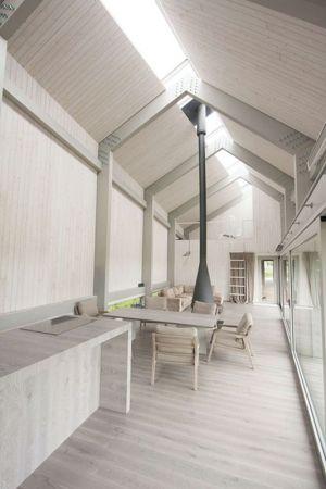 Pièce De Vie & Cheminée - Dune-House Par Archispektras - Lettonie