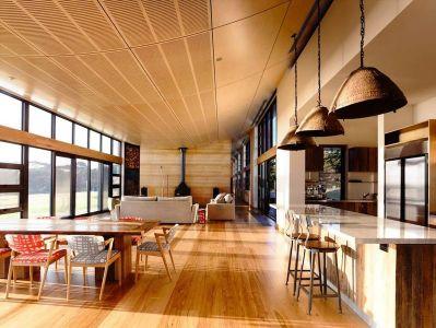 Pièce De Vie & Grande Baie Vitrée - Flinders-House Par Peter Schaad Design, Australie