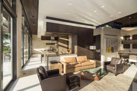 Pièce De Vie Rez De Chaussée - Ballantrae Court Par Kz Architecture - Floride, USA