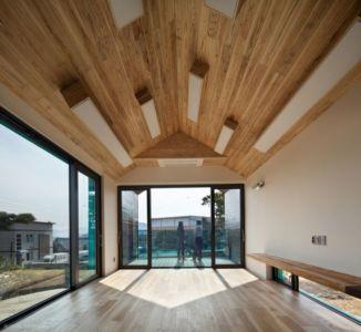 Pièce Principale Entrée & Baie Vitrée Coulissante - Tower-House-maison-x Par ON Architecture - Gimhae, Coree Du Sud