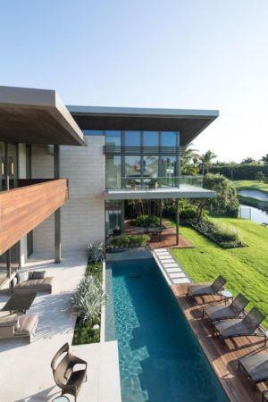 Piscine & Bain De Soleil - Ballantrae Court Par Kz Architecture - Floride, USA
