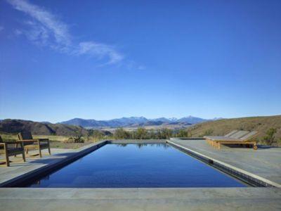 Piscine & Vue Panoramique Paysage - Studhorse Par Olson Kundig - Washington, Etats-Unis