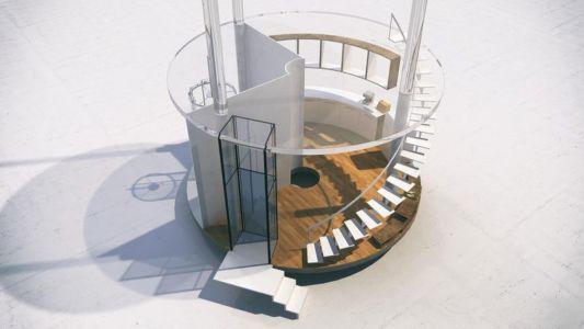Plan 3D - Glass-House par Aibek-Almassov - Kazakhstan