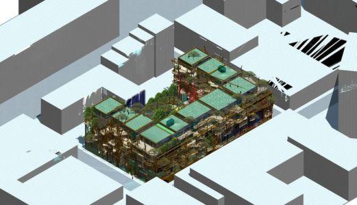 Plan 3D - House Green par Luciano - Turin, Italie