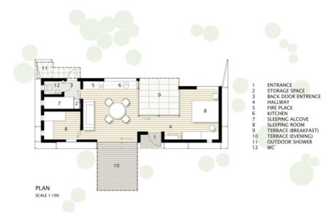 Plan Pièces - juniper-house par Murman Arkitekter - Kattammarsvik, Suède