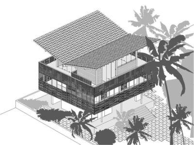 Plan Principal 2D - Casa Tropical par Camarim - Mundau, Brézil