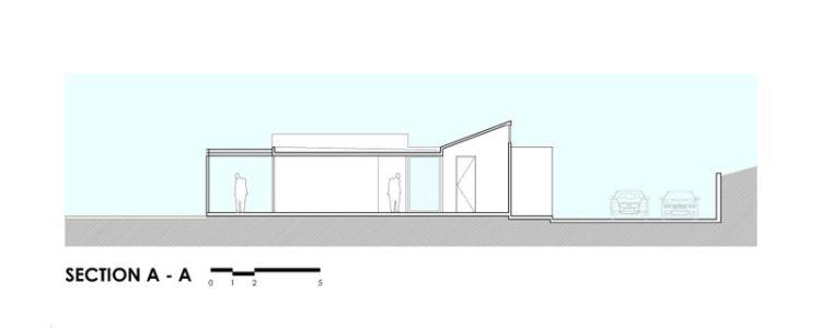 Plan Section - houses-10-and-10-10 par Gonzalo Mardones - Tierras Blancas, Chilie