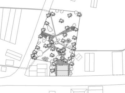 Plan de masse - Casa Tropical par Camarim - Mundau, Brézil