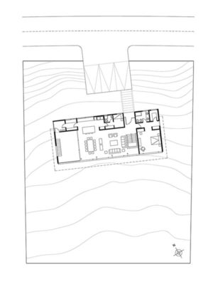 Plan Site - House Cs par Alvaro Arancibia - Cachagua, Chili