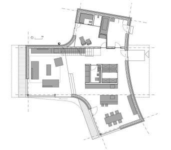 Plan 2D - Maison En T Par SoNo Arhitekti - Slovénie