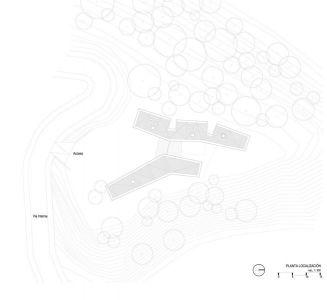 Plan 2D Site - Gozu-House Par Opus - El Retiro, Colombie