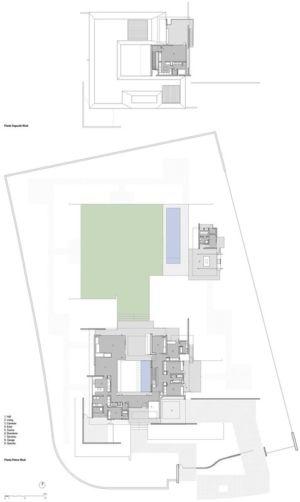 Plans masse - Kübler House par 57STUDIO - Stgo, Chili