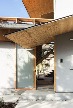 Porte entrée - Eaves-House par Y Plus M Design - Kyoto, Japon