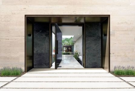 Porte Entrée Principale - Super-Villa Par Wolf Architects - Los Angeles, USA