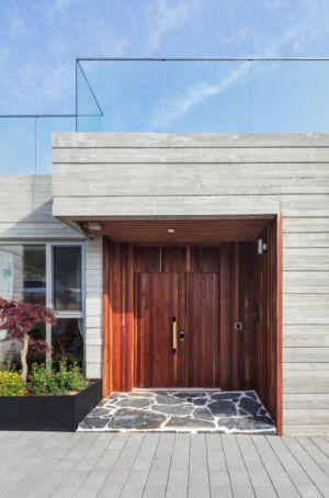 Porte Principale Entrée - House-Dongmang Par 2m2 Architects - Geoje, Coree Du Sud