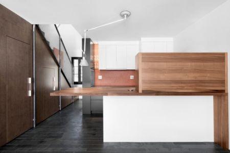 cuisine ouverte - Résidence LeJeune par Architecture Open Form - Montréal, Canada