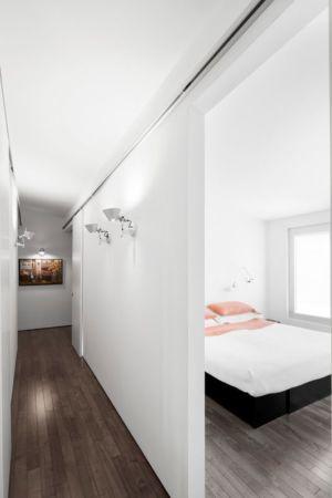 couloir et chambre - Résidence LeJeune par Architecture Open Form - Montréal, Canada