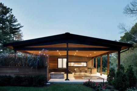 Façade jardin & vue salle séjour - Résidence du Tour par Architecture Open Form - Québec, Canada_04