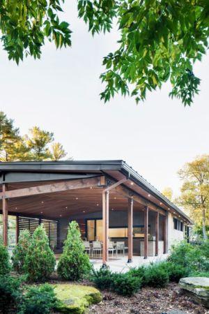 Vue salle séjour - Résidence du Tour par Architecture Open Form - Québec, Canada