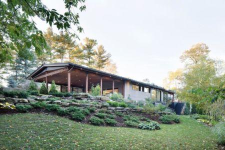 Façade jardin - Résidence du Tour par Architecture Open Form - Québec, Canada