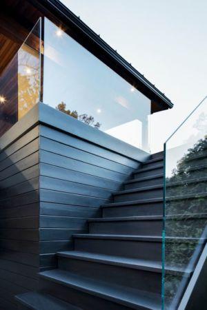 Escalier extérieur - Résidence du Tour par Architecture Open Form - Québec, Canada