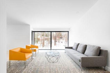 salon étage - Résidence du Tour par Architecture Open Form - Québec, Canada