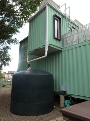 Recipient Recueil D\'eau - Container-House Par Marie Jones Arizina, USA