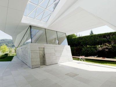 Rez De Chaussée & Baie Vitrée - Lake-House-Portschach Par A01 Architects - Carinthie, Autriche