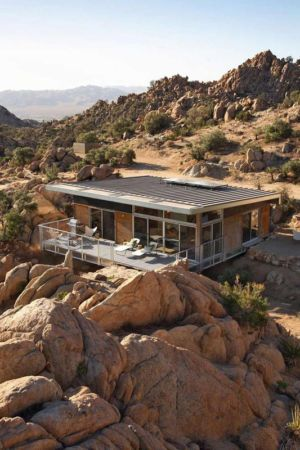 Rock Reach Bluesky by o2 Architecture - Home-Mojave-Desert-California, Usa | + d'infos