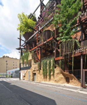 façade rue - House Green par Luciano - Turin, Italie