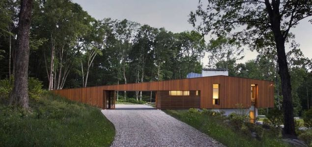 Chemin d'accès - bridge-house par Joeb Moore & Partners - Kent Connecticut, USA