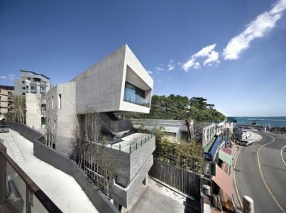 Route Principale & Vue Plage - Songdo-House Par Architect-K En Coree Du Sud