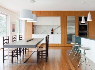 Séjour & Cuisine - Fishers-Island-House Par 4 Architecture - New York, USA