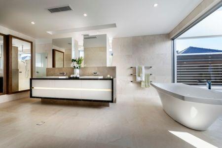 Salle de Bains - cottesloe-residence par Custom-Homes - Perth, Australie