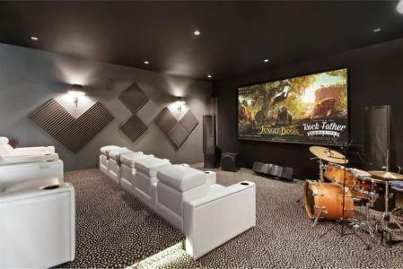 Salle Cinéma & Musique - Hampton-Home Par Barnes Coy Architects - Hamptons, USA