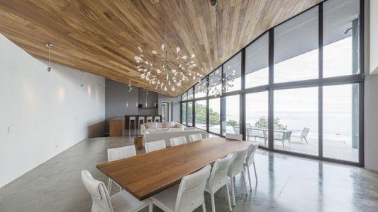 Salle & Grande Baie Vitrée - Casa Sea La Vie Par Sarco Architects, Costa Rica